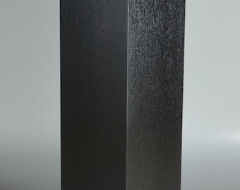 Pedestal, Black Oak Veneer with Lacquer Finish.