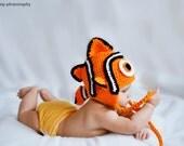 Clown Fish Ear Flap Hat