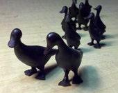 Duck family bronze sculpture