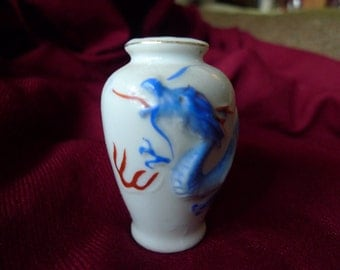 """Occupied Japan Small 2 1/2"""" Dragonware Vase Excellent Condition"""