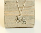 Silver Bicycle Necklace, Bicycle Charm Pendant, Gifts For Cyclists, Stocking Filler, Stocking Stuffer