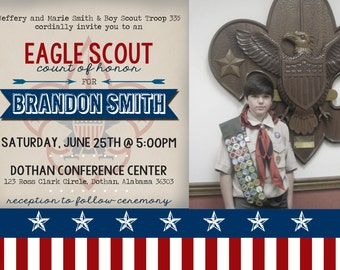 Eagle Scout Invitation | Court of Honor Invitation | Boy Scout Invitation | Photo Digital Invitation