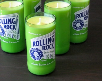 8oz Rolling Rock Candles (Soy) citronella candles, best scented candles, best smelling candles, aroma candles, glow candles, cool candles