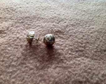 Vintage Sterling Silver Pierced Earrings