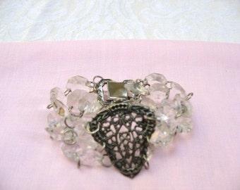 Plexi Beads Bracelet / women's jewelry / teen Jewelry / jewelry / women / vintage 1990's