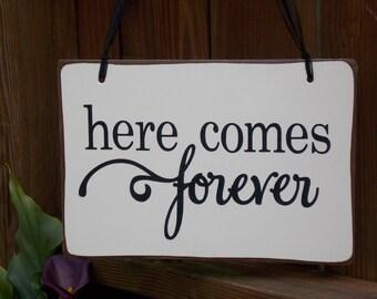Here Comes Forever Ring Bearer/Flower Girl Sign