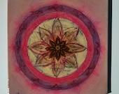 Shining Star Mandala - Original Mandala Painting - Feng Shui Art - Home Blassing