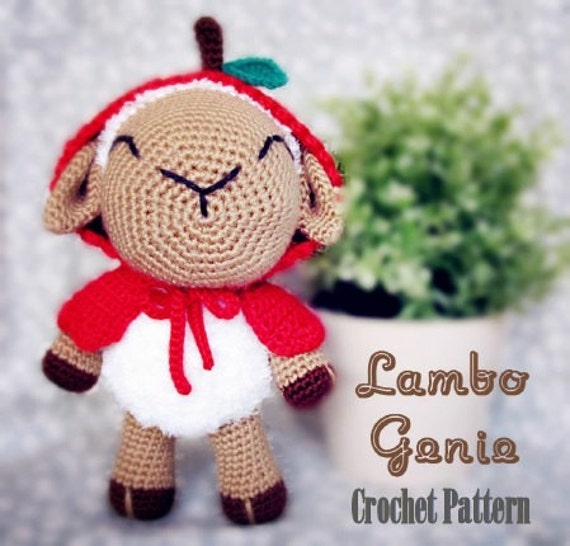 Lambo Genie Pdf Pattern From Amilovers On Etsy Studio