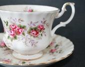 "ROYAL ALBERT Bone China Teacup and Saucer Set ""Lavender Rose"" 2 Sets Available"
