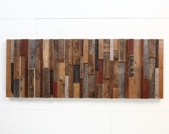 Wood wall art made of old reclaimed barnwood, Different Sizes Available, Large wall art, Large art, wood wall sculpture