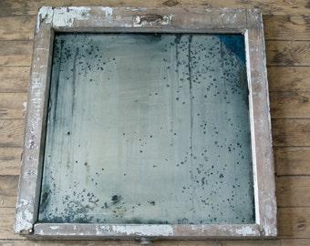 distressed silver mirror antiqued silver window frame mirror wall mirror hand silvered glass mirror 26x26