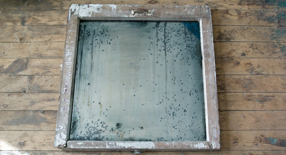 Silver Mirror Wall Photo Frame: Distressed Silver Mirror Antiqued Silver Window Frame Mirror