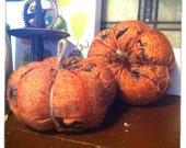 Spooky Cloth Pumpkins