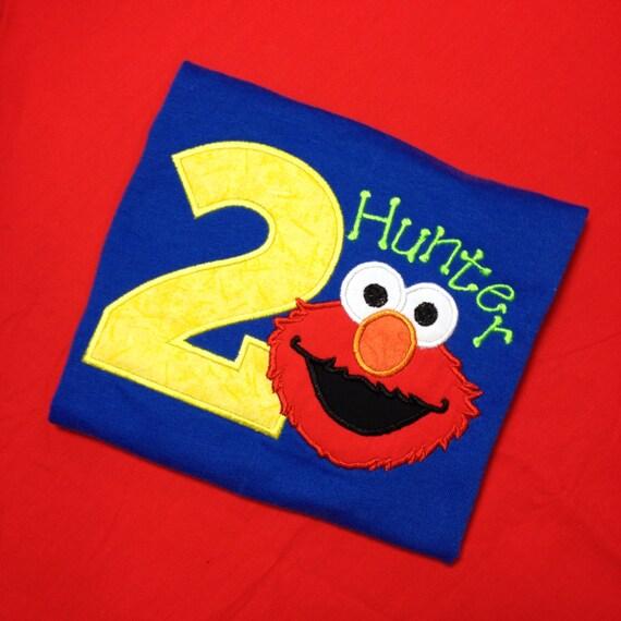 Elmo Birthday Shirt Boys Shirt Birthday Shirt Elmo 1st