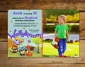 Wallykazam Magical Birthday Photo Invitations - Wally & Norvel