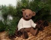 """Freddie - 26 cm (10.2"""") Artist mohair, OOAK teddy bear"""