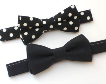 Toddler bow tie, black bow tie for boys, toddler wedding outfit, formal bow ties, just like daddy father and son bow tie ring bearer bow tie