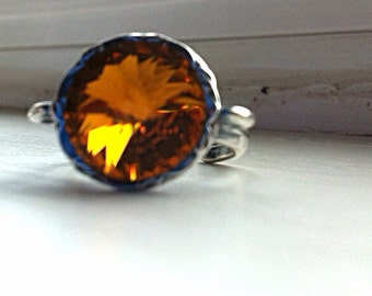 ORANGE adjustable ring by Ashley3535