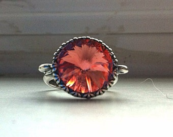 PRICE REDUCTION- Rose melon fashion SWAROVSKI ring
