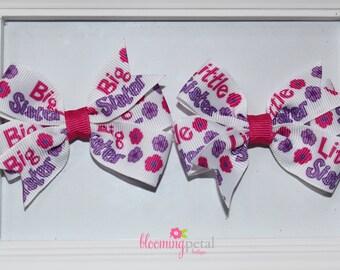 Big Sister/Little Sister Flower Pinwheel Bows