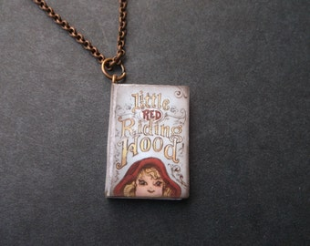 Storybook Necklace -Little Red Riding Hood - For Book Lovers - Little Red Riding Hood Book