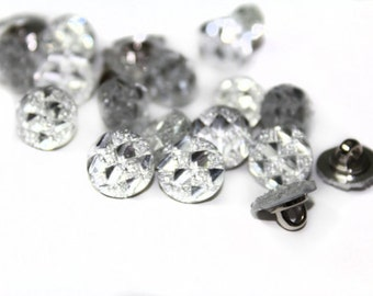 35 PCS Rhinestone Sewing Buttons Crafts Supplies