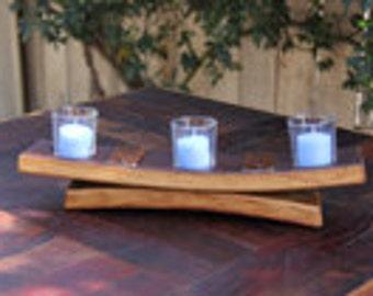 wine barrel candle holder 3