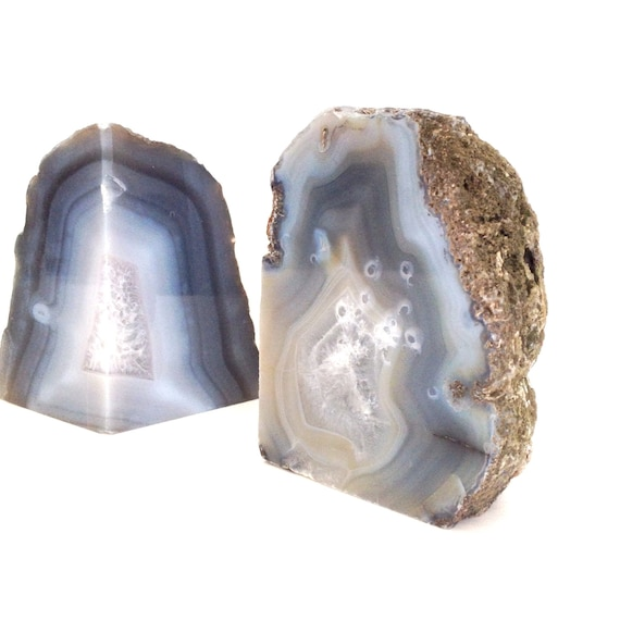Vintage geode bookends natural geode bookends by ifoundvintage - Geode bookends ...