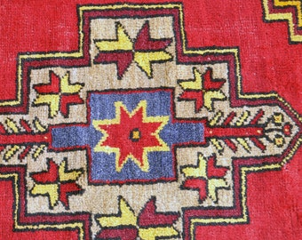 Neon Turkish Village Rug -- 6 ft. 7 in. by 3 ft. 7 in.