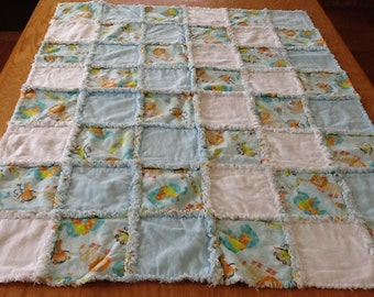 Jungle Animals Rag Quilt