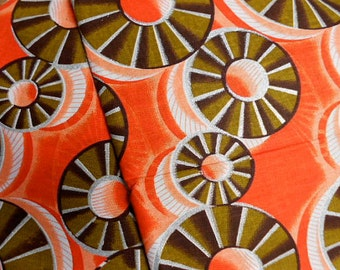 """CLOSE OUT  1 yd. 33""""  African Shining Sand Woodin Fabric 100% Cotton ASW-13"""