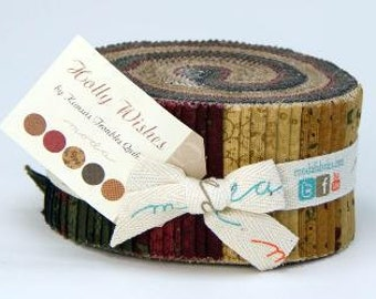 Holly Wishes Jelly Roll by Kansas Troubles Quilters for Moda