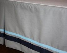Custom Fully Lined Crib Skirt - Made to Order