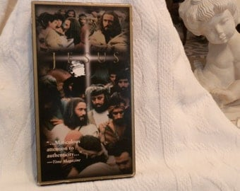 """Vintage """"Jesus"""" VCR Tape Titled """"Jesus"""" from 1979 The Life of Jesus by Warner Brothers Gift for Christmas from History House Antiques"""