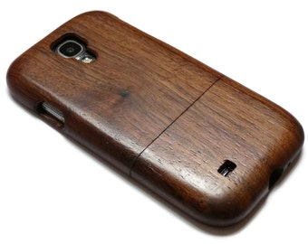 Wood case for Samsung Galaxy S4 - walnut / cherry or bamboo wood
