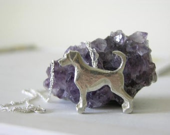 Doberman Dog Necklace, Sterling Silver Jewellery, Dog Breeds Jewellery
