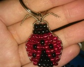 Custom Ladybug Keychain Beaded