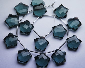 5 Matched pairs,GREY Quartz Faceted Star Shape Briolette,Size12mm Approx