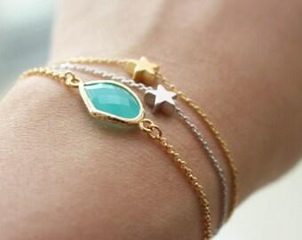 Tiny star bracelet // Gold or Silver