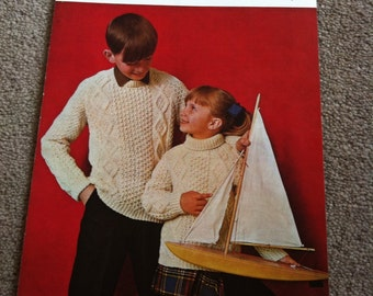 Robin children's aran knitting pattern 1824