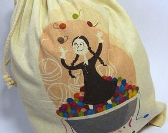 Project bag - In the yarn bath