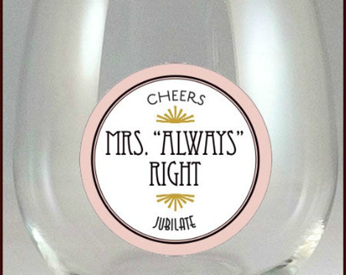 Mr. and Mrs. Wine Glass Charms - Mr. and Mrs. Glass Tags - Glass Labels - Mr. and Mrs. Glass Decals, Wedding Wine Charms, Glass Not included