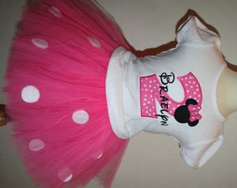 Minnie Mouse Birthday outfit- Shirt ONLY