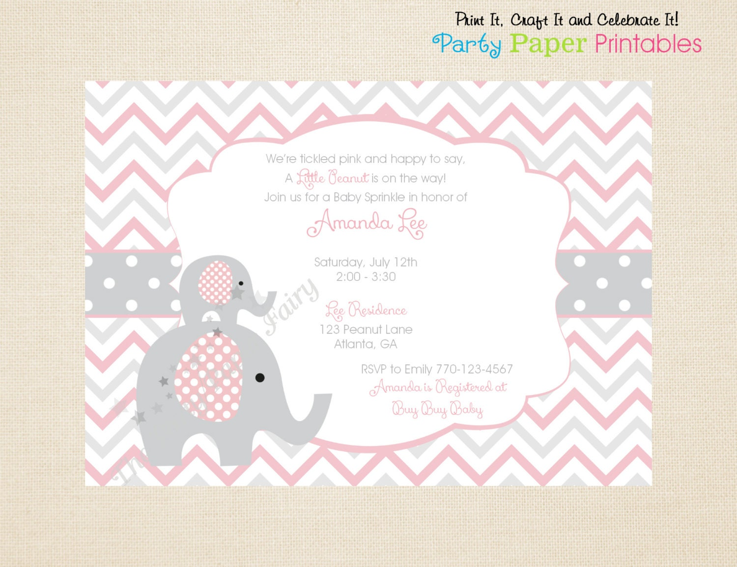 printable little peanut baby shower by partypaperprintables