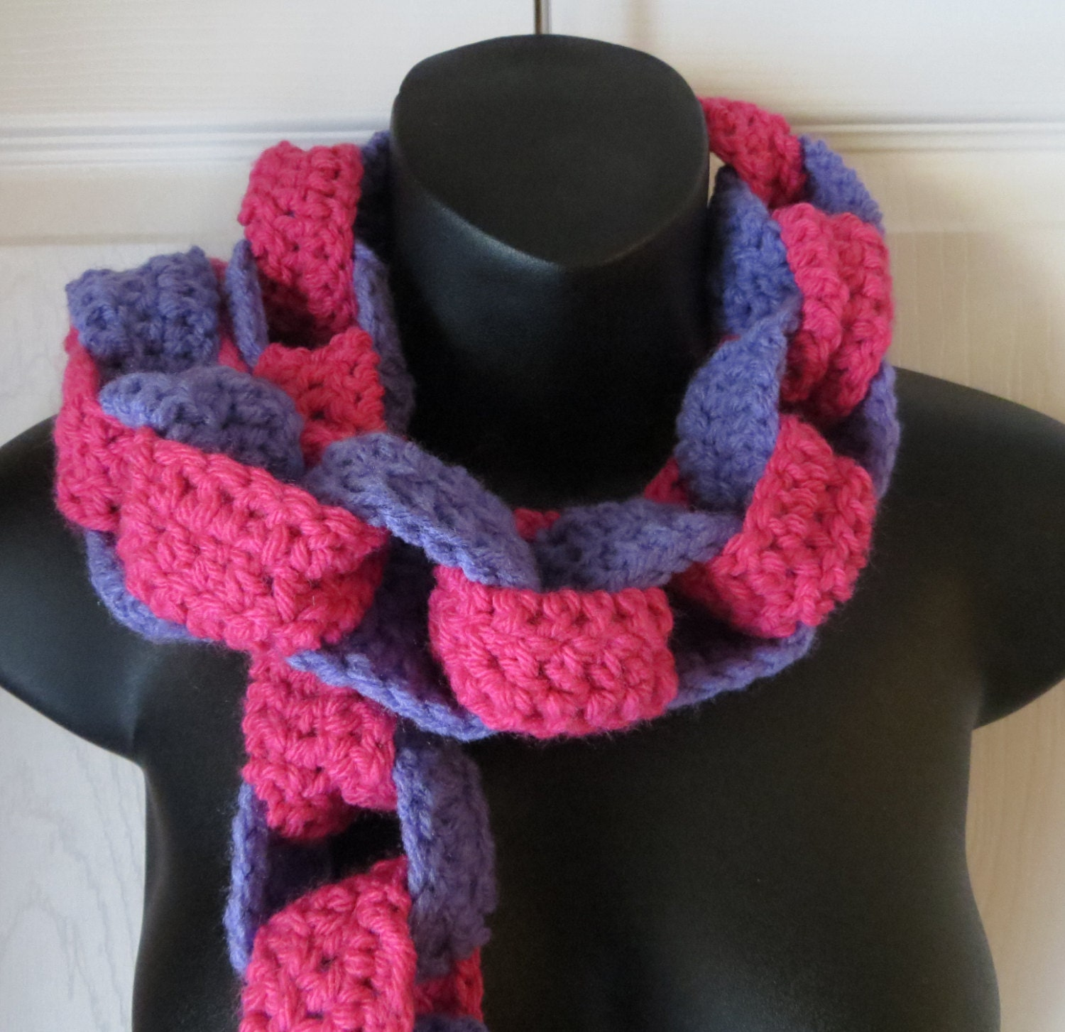 Knitting Pattern For Chain Link Scarf : Crochet..CHAIN-LINK SCARF..Fringe..Tassels