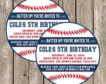 Baseball Invitation - Baseball Birthday Party Invitation - Boy Birthday Party - DIY Printable