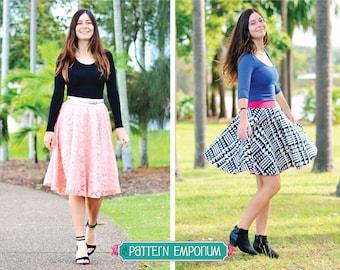 PATTERN Ladies Circle Skater Skirt - PDF Pattern Sewing Pattern - Instant Download - Pattern Emporium