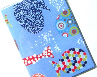 Passport Cover Holder Case -- Patterned Fish