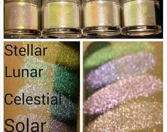 Iridescent Color-shifting Cosmetic Glitter Set (duochrome reflects)