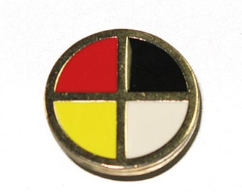 Medicine Wheel Rivet Back Concho